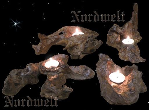 Baumwurzel Teelichthalter Kerzenhalter aus Baumwurzeln Unikate