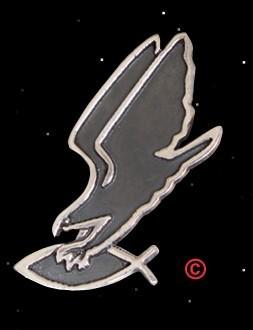 Adler greift Fisch Anhänger - groß - 925er Silber