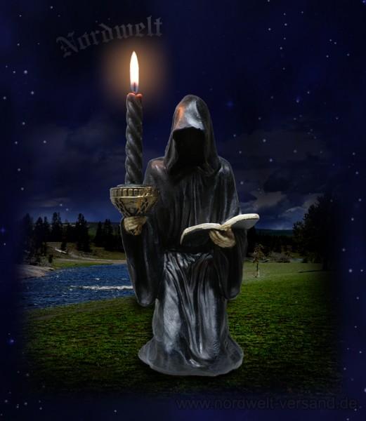 Gevatter Tod mit Buch - Kerzenhalter, Freund Hein