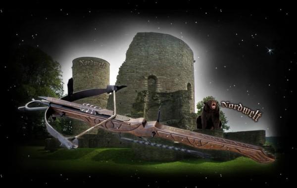 mittelalterliche Armbrust Dekoration Deko Armbrustgewehr Mittealter Armbrüste