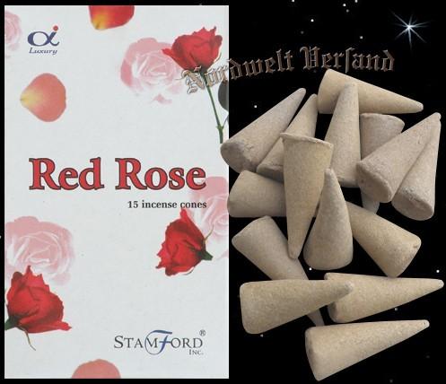 Räucherkerzchen rote Rosen Räucherkegel Räucherhüte Räucherhütchen Riechkerzchen Stamford