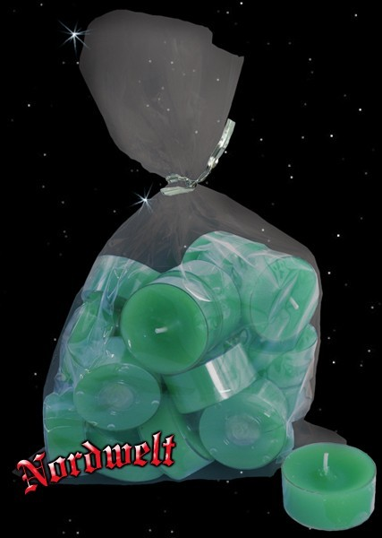 Acryl-Cup Teelichter helles frühlings grün Plastik PE Teelicht