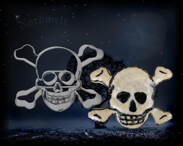 Gothik Biker Totenkopf Teigform Kekse backen Ausstecher Piraten Symbol
