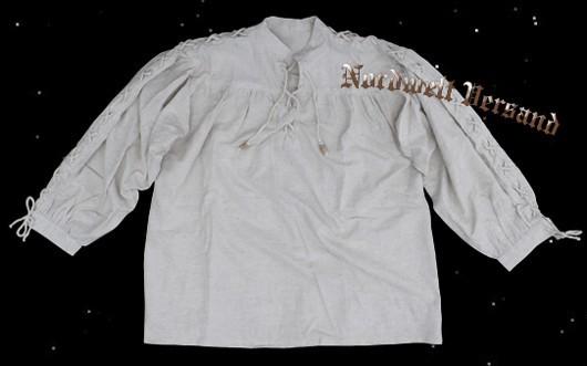 Schnürhemd Mittelalter Mittelalterhochzeit, Hochzeit, Mittelalterfeier, Stehkragenhemd Ärmelschnüre Brauchtumsfest Piratenhemd, Bauernhemd Reenactment Volkstanz
