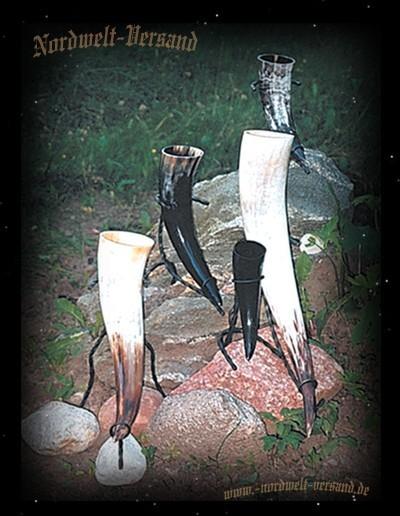 Metallständer für Methörner Trinkhörner Ständer aus Eisen für Horner