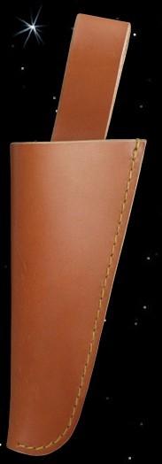 braune Lederscheide für Messer und Gabel Mittelalter