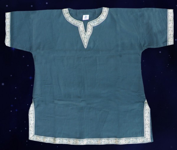 Middle Ages tunic with border (M, XL, 2XL), green, made of cotton
