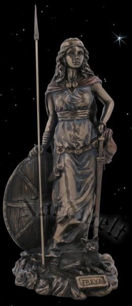 Liebesgöttin Freya, bronzefarbend