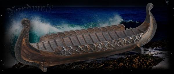 Schale Wikingerlangschiff Polyresin