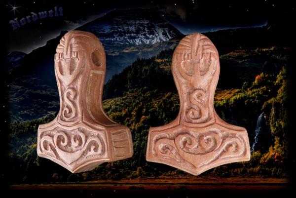 Schmuck - Anhänger Thorhammer aus Holz