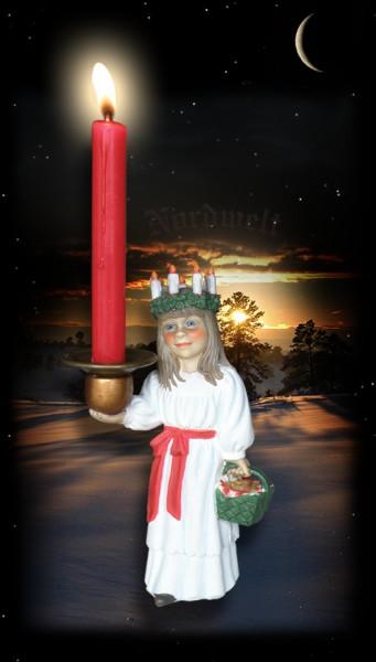Kerzenhalter Weihnachten Julfest Lichtgöttin Lucia Brauchtum Skandinavien Lichtfest