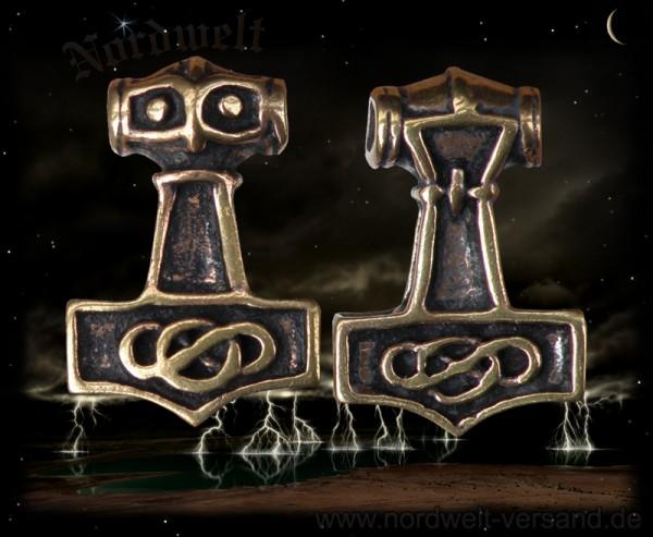 Thors Hammer Bronze Mjölnir Thorshammer Donnergott Thor seine Waffe