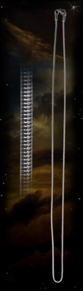 Edelstahl Schlangenkette, 60 cm