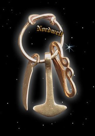 Krieger Amulett Wiking Thorhammer Wikingermesser Schlageisen Anhänger Schmuck