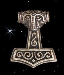Thorhammer Nordmann Anhänger Thors Hammer Mjölnir Bronze Schmuck
