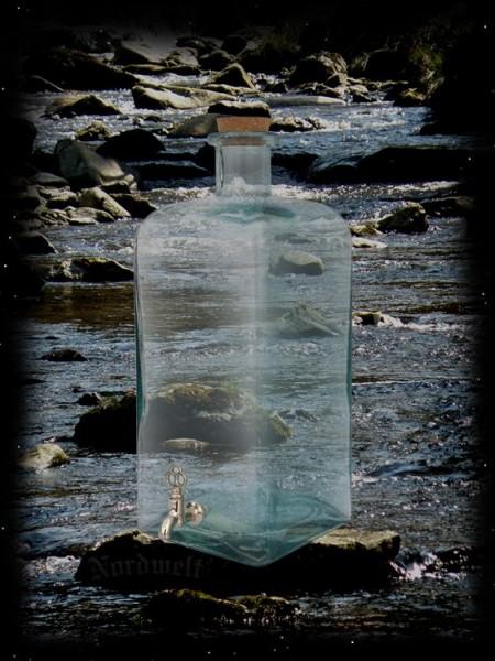 Glasflasche mit Korken und Zapfhahn 5 Liter